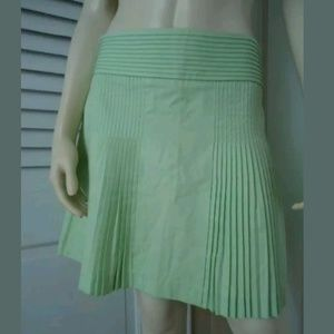 J. Crew Skirt 2 Lime Cotton Accordian Pleat Lined